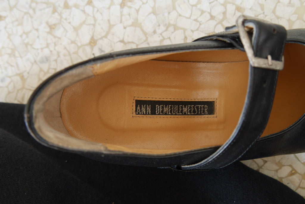 Ann Demeulemeester pumps with buckled strap 38 1980s  Antwerp 6 Avant-garde