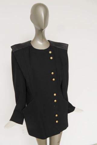 90s Yohi Yamamoto avant-garde deconstructed skirt suit with oversized blazer