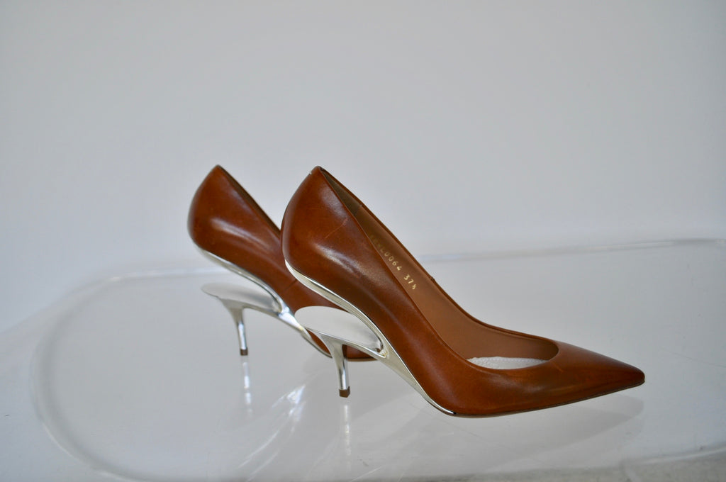 Maison Margiela pumps with silver heel unused sz 37 1/2
