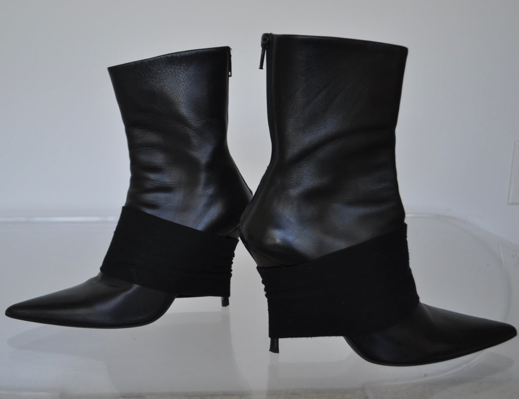 Helmut Lang boots with wrap 1995  SZ 37