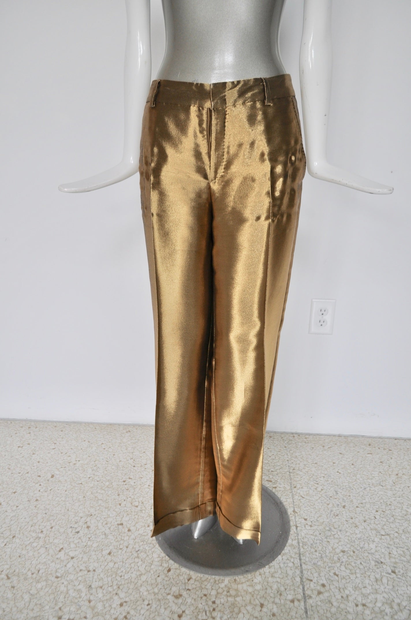 Gucci trousers gold wide legs