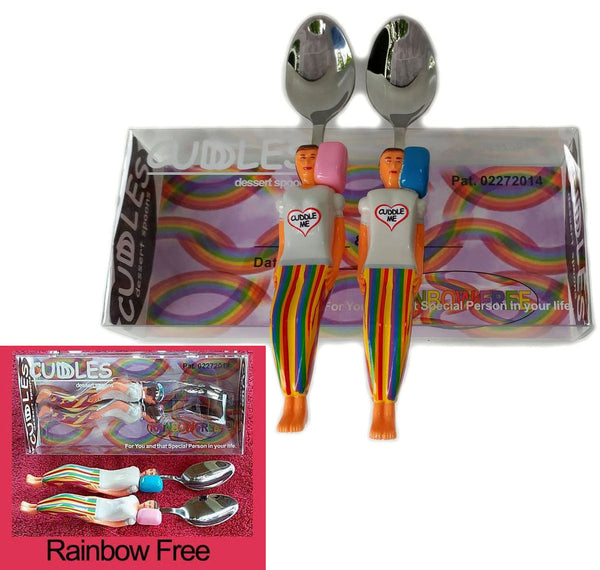 #3 Rainbow Free - Cuddle Spoons set in Custom Gift Box $14.95.