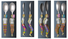 First Rainbow 3d spoon model colored.