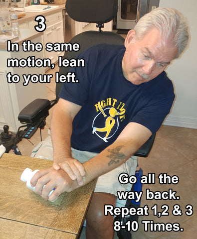 Backwards Left Side - Hand, Arms, Trunk/Stomach Exercising - Rehabilitation: Recovering from a Stroke Part 3.