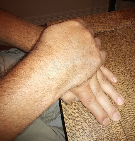 Hand Exercising - Rehabilitation: Recovering from a Stroke, palm down on surface