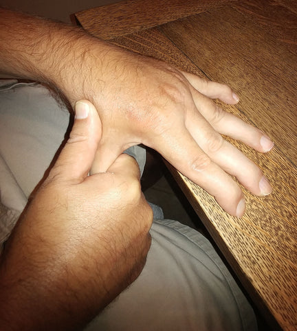 Hand Exercising - Rehabilitation: Recovering from a Stroke, stretch and lift fingers.
