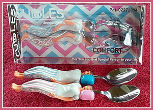 Cuddle Spoons Pink & Blue set.