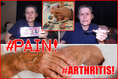 Elderly with eating issues. Arthritis in the hand, Pain, Strength and motion.