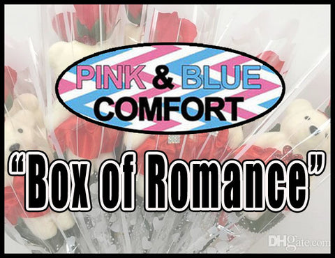 Box of Romance *Pink and Blue  – 7 Fun Games & Gifts for Couples & Singles in any Relationship.