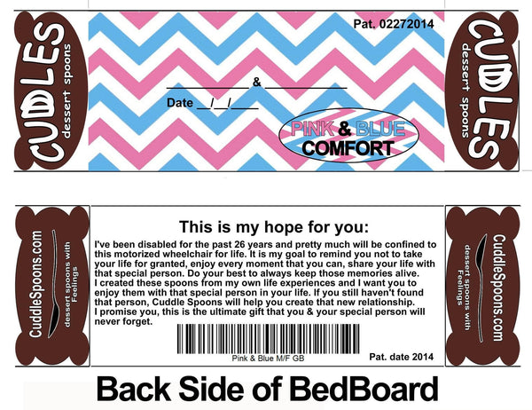 Pink and Blue Bed back board - This is my hope for you *Don't take Life for Granted.