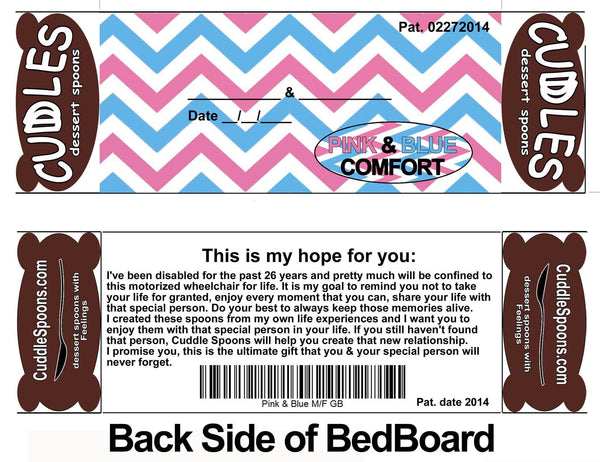 Pink & Blue Bed back board - This is my hope for you *Don't take Life for Granted.
