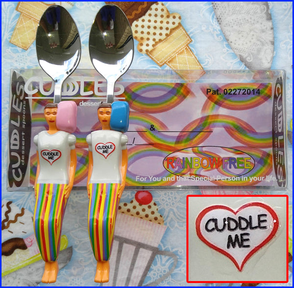 Rainbow Free Cuddle Me on the Custom Bed Display Box - Fun Keepsake Gift for Couples & Singles in any Relationship.