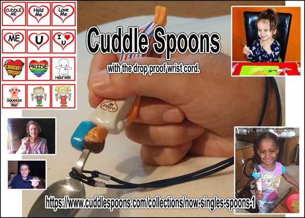 Cuddle Spoons - Drop Proof, Easy Grip, Comfortable. Eating Aid for the Disabled, Elderly and Children learning to eat.