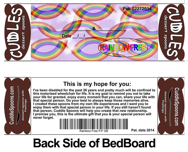 Rainbow Free Bed back board - This is my hope for you *Don't take Life for Granted  – LGBTQ Pride & Disability Friendly.