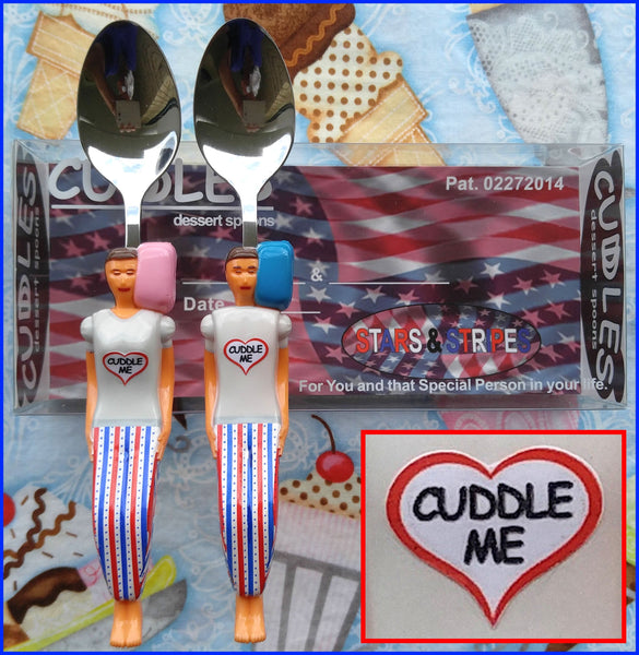 Stars and Stripes Cuddle Me on the Custom Bed Display Box - Fun Keepsake Gift for Couples & Singles in any Relationship.