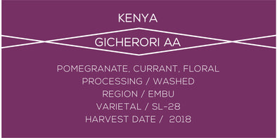 Kenya Gicherori - Case Coffee Roasters
