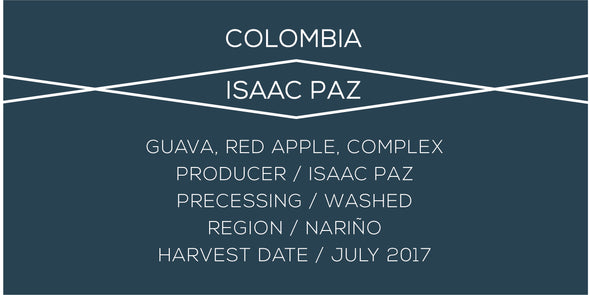 Colombia Isaac Paz - Case Coffee Roasters
