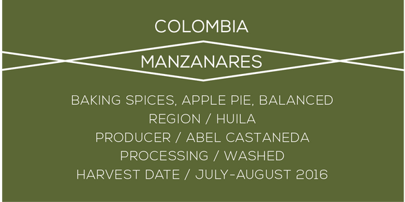 Colombia Manzanares - Case Coffee Roasters