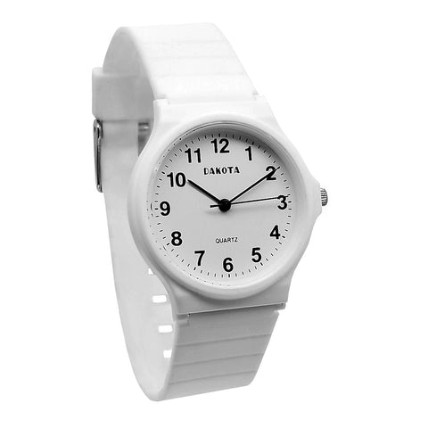Nurse Watch Lightweight EZ Clean EZ Read White PVC Band Dakota 23987