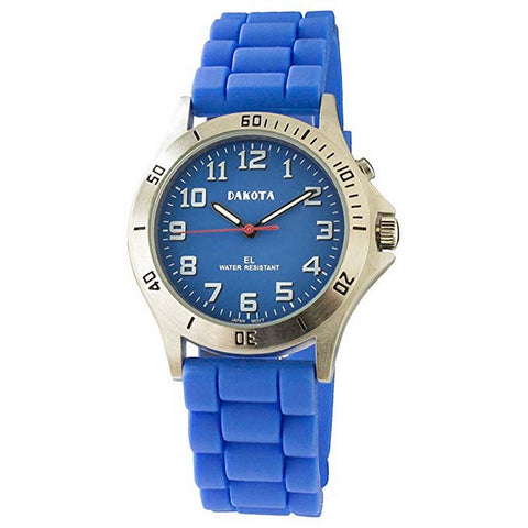 Nurse Watch Light-Up Dial Blue Easy Clean Silicone Band Dakota 53854