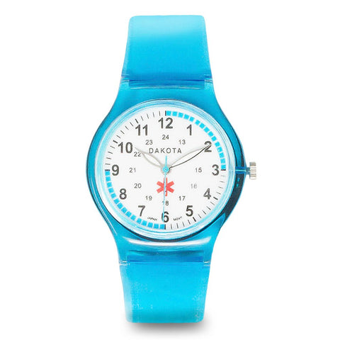 Nurses Medical Scrub Watch Easy Clean Blue Band Pulse Dakota 27369