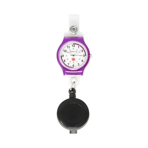 Nurses Medical Watch Purple Clip-on Retractable  Holder Dakota 27423