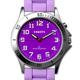 Nurses Watch Light Up Dial Lavender Easy Clean Silicone Dakota 53872