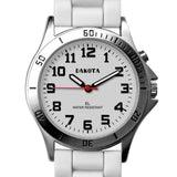 Nurses Watch Light Up Dial White Easy Clean Silicone Band Dakota 53881