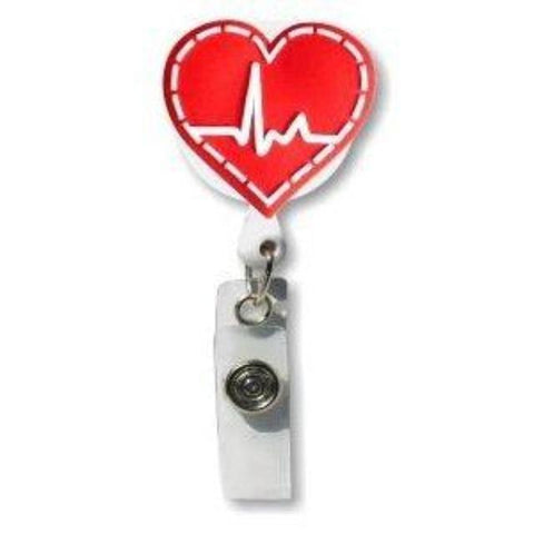 retractable-badge-holder-3d-soft-rubber-ekg-heart-design-smartcharms
