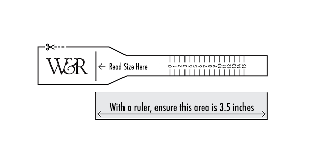 picture about Printable Ring Size Strip titled Size Wrist Rye