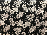 Hawaiian Plumeria Black Fabric