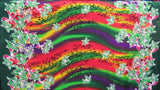 Double Border Tiara Flower Prints in Rainbow Colours