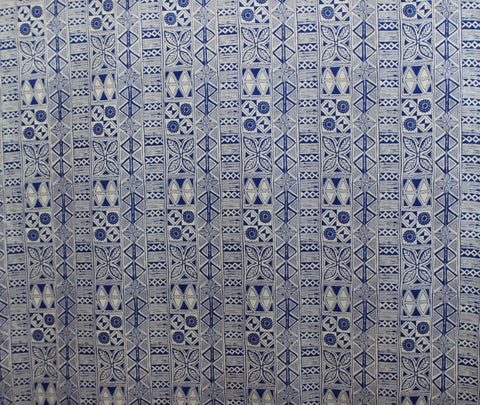 Hawaiian Tattoo Blue Fabric