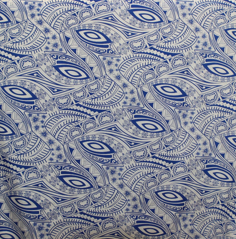 Hawaiian Turtle Blue Fabric