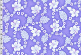 Hibiscus Lei Light Purple Fabric