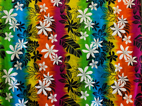 Tiara and Plumeria Stripe All Over Print
