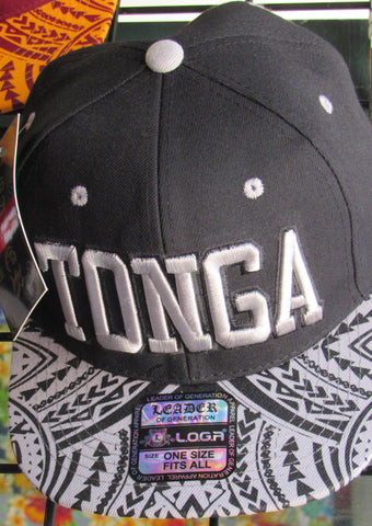 L.O.G.A. Polynesian Hat (Black Tribal Tonga)