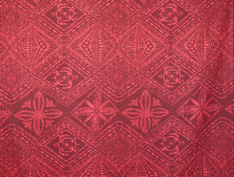 Red Turtle Tribal Printed Fabric