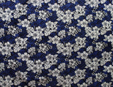 Floral Hibiscus Blue Fabric