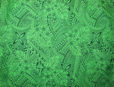 Plumeria Tattoo Green Fabric