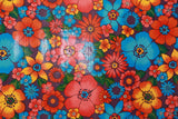 Multi Flower Oilcloth Fabric