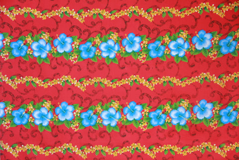 Hibiscus Floral Red Fabric