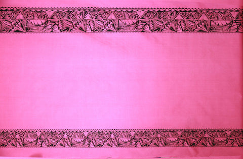 Tribal Double Border Pink Fabric