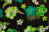 Hibiscus Flowers Green All over Rayon Fabric