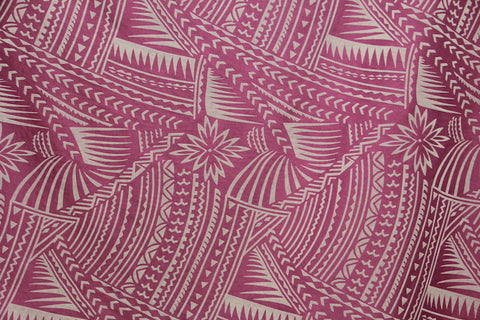 Hawaiian Tattoo Flocking Violet Fabric