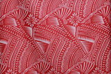 Hawaiian Tattoo Flocking Pink Fabric