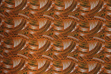 Polynesian Green Orange Fabric