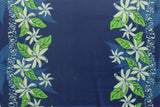Tiare Double Border Hawaiian Royal Fleece Fabric