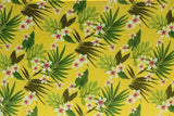 Plumeria Hawaiian Garden Yellow Fleece Fabric
