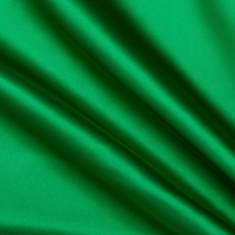 Green Solid Satin Fabric